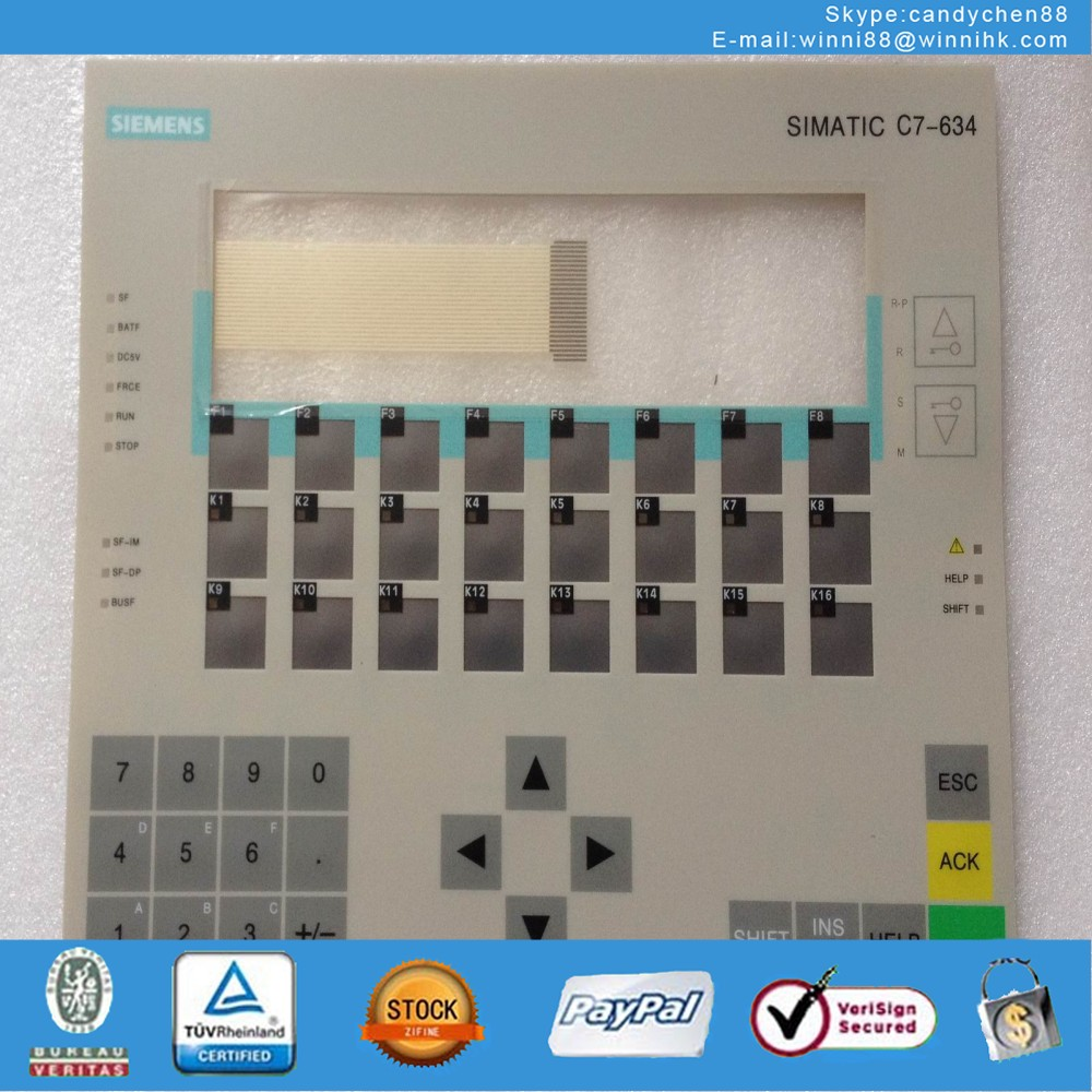 Membrane Keypad for Siemens C7-634 6ES7634-1DF02-0AE3