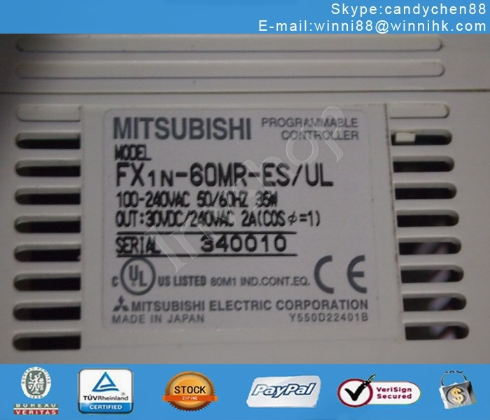 new mitsubishi FX1N-60MR-ES/UL programmable controller