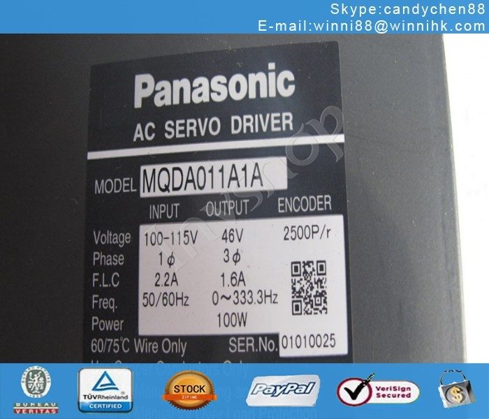 Panasonic MQDA011A1A USED servo drives